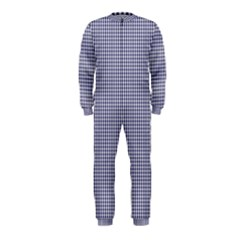 USA Flag Blue and White Gingham Checked OnePiece Jumpsuit (Kids)