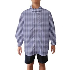 USA Flag Blue and White Gingham Checked Wind Breaker (Kids)