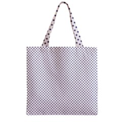 USA Flag Blue Stars on White Zipper Grocery Tote Bag