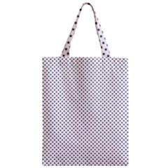 USA Flag Blue Stars on White Zipper Classic Tote Bag