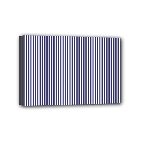 USA Flag Blue and White Stripes Mini Canvas 6  x 4
