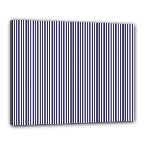 USA Flag Blue and White Stripes Canvas 20  x 16