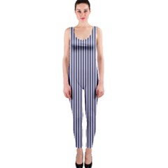 USA Flag Blue and White Stripes OnePiece Catsuit