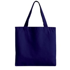 USA Flag Blue Royal Blue Deep Blue Zipper Grocery Tote Bag
