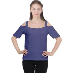 USA Flag Blue Royal Blue Deep Blue Women s Cutout Shoulder Tee