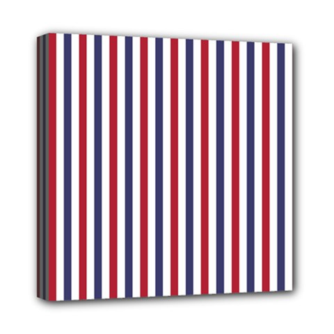 Usa Flag Red White And Flag Blue Wide Stripes Mini Canvas 8  X 8
