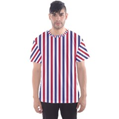 USA Flag Red White and Flag Blue Wide Stripes Men s Sports Mesh Tee