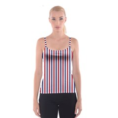 USA Flag Red White and Flag Blue Wide Stripes Spaghetti Strap Top