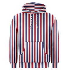 USA Flag Red White and Flag Blue Wide Stripes Men s Pullover Hoodie
