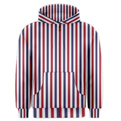 USA Flag Red White and Flag Blue Wide Stripes Men s Zipper Hoodie