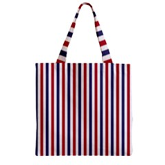 Usa Flag Red White And Flag Blue Wide Stripes Zipper Grocery Tote Bag