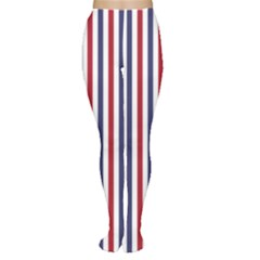 USA Flag Red White and Flag Blue Wide Stripes Women s Tights