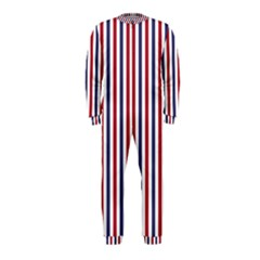 USA Flag Red White and Flag Blue Wide Stripes OnePiece Jumpsuit (Kids)
