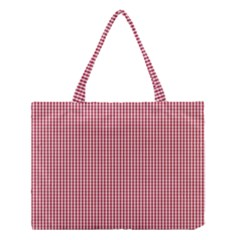 USA Flag Red and White Gingham Checked Medium Tote Bag