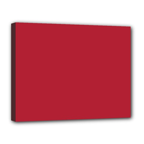 USA Flag Red Blood Red classic solid color  Canvas 14  x 11