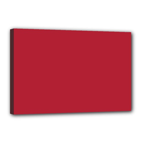 USA Flag Red Blood Red classic solid color  Canvas 18  x 12