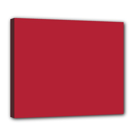 USA Flag Red Blood Red classic solid color  Deluxe Canvas 24  x 20