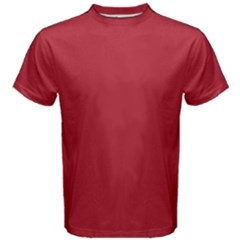 USA Flag Red Blood Red classic solid color  Men s Cotton Tee