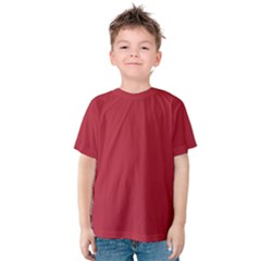 USA Flag Red Blood Red classic solid color  Kids  Cotton Tee