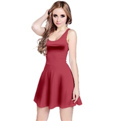 USA Flag Red Blood Red classic solid color  Reversible Sleeveless Dress