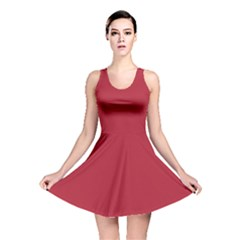 USA Flag Red Blood Red classic solid color  Reversible Skater Dress
