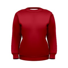 USA Flag Red Blood Red classic solid color  Women s Sweatshirt