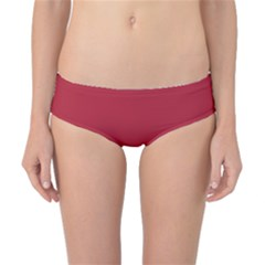 USA Flag Red Blood Red classic solid color  Classic Bikini Bottoms