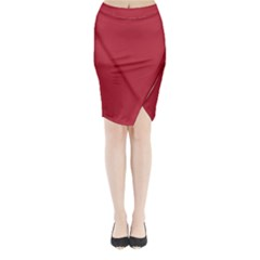 USA Flag Red Blood Red classic solid color  Midi Wrap Pencil Skirt