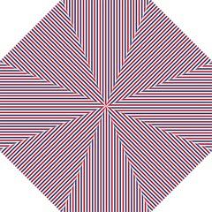 USA Flag Red and Flag Blue Narrow Thin Stripes  Golf Umbrellas
