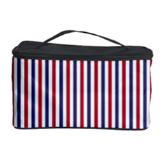 USA Flag Red and Flag Blue Narrow Thin Stripes  Cosmetic Storage Case