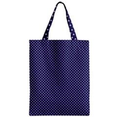 USA Flag White Stars on Flag Blue Zipper Classic Tote Bag