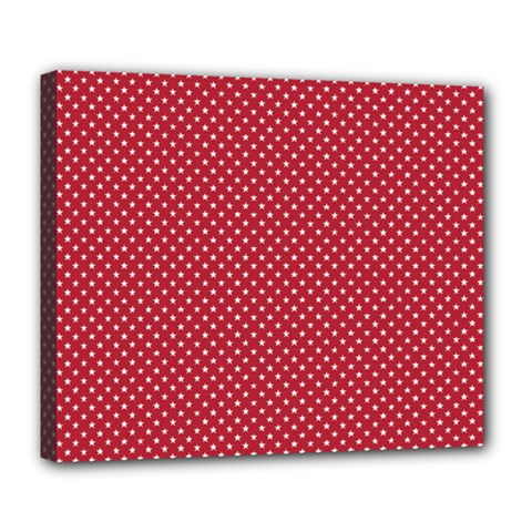 USA Flag White Stars on American Flag Red Deluxe Canvas 24  x 20