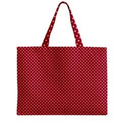Usa Flag White Stars On American Flag Red Zipper Mini Tote Bag