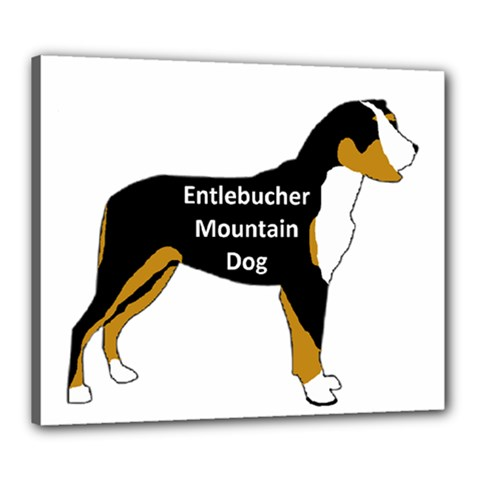 Entlebucher Mt Dog Name Silo Color Canvas 24  X 20