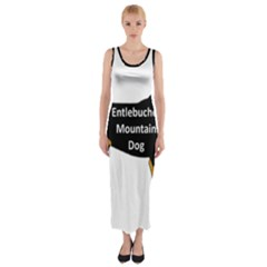 Entlebucher Mt Dog Name Silo Color Fitted Maxi Dress