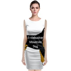 Entlebucher Mt Dog Name Silo Color Classic Sleeveless Midi Dress