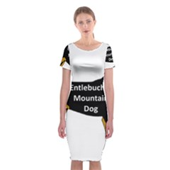 Entlebucher Mt Dog Name Silo Color Classic Short Sleeve Midi Dress
