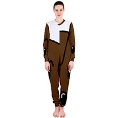 Peeping Chocolate Lab OnePiece Jumpsuit (Ladies)