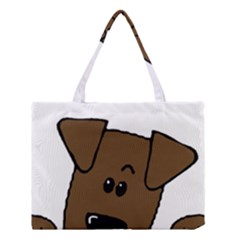 Peeping Chocolate Lab Medium Tote Bag