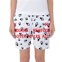 My Newfie Walks On Me Women s Basketball Shorts