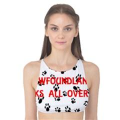 My Newfie Walks On Me Tank Bikini Top