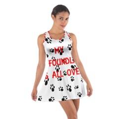 My Newfie Walks On Me Cotton Racerback Dress