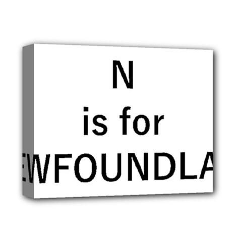 N Is For Newfoundland Deluxe Canvas 14  x 11