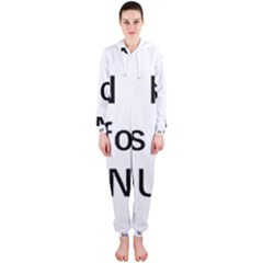 N Is For Newfoundland Hooded Jumpsuit (Ladies)