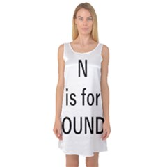 N Is For Newfoundland Sleeveless Satin Nightdress