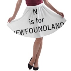 N Is For Newfoundland A-line Skater Skirt