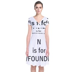 N Is For Newfoundland Short Sleeve Front Wrap Dress