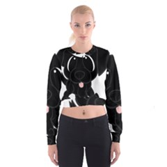 Newfie Cartoon Cropped Sweatshirt