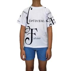 Newfie Fancier Kids  Short Sleeve Swimwear