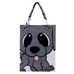 Newfie Gray Cartoon Classic Tote Bag
